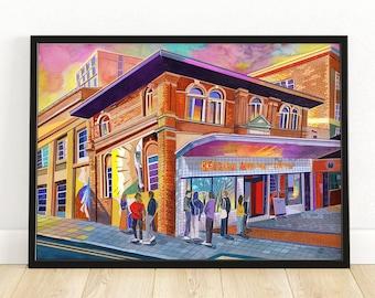 Leeds Art Print, Belgrave Music Hall & Canteen, Leeds Poster, Leeds City Painting, Leeds Gift Idea, A3, A4