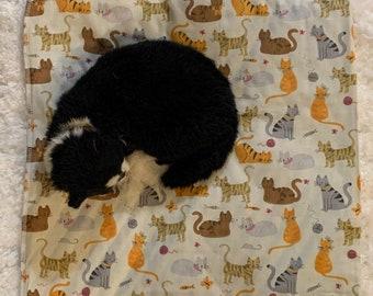 Pet Bed Gift For Cat Cat Blanket Catnip Toy Unique Pet Bed 17 x 17 Refillable Catnip Mat Handmade Cat Bed Catnip Bed BEST SELLER