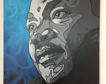 """Martin Luther King Jr. - """"Our Lives Begin to End the Day WE Become Scilent about Things that Matter"""" ~ JG-03 (Sencha @ MOA March1-31)"""
