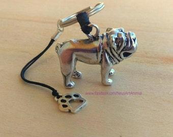 Keychain English Bulldog, Christmas Gift