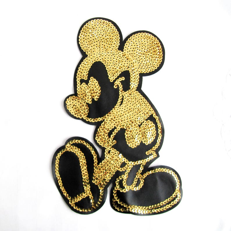 af96f8c4dfd Todi Gold Mickey Mouse Sequin Disney AppliquesHuge Mickey