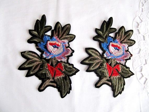 Pz fiore di trino patch cucire il ricamo applique etsy
