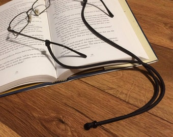 Handmade Black Paracord Glasses Chain, Black Eyeglasses Chain, Black Eye Glasses Chain, Black Glasses Lanyard