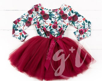 Winter outfit for girls, toddler girls outfit, Winter Dress, Winter Outfit, Girls Christmas Outfit, Floral Winter