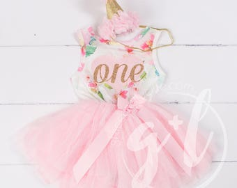 ed0f1e7fa Pink Floral First Birthday Outfit, Sleeveless, 1st birthday outfit, 1st  birthday dress, Floral, Pink heart