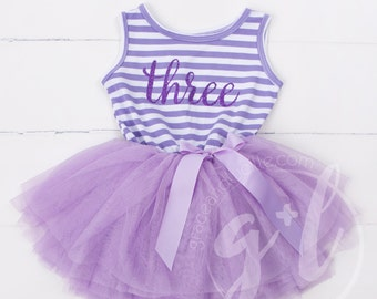 1a650bac0 Third Birthday outfit, third birthday, purple tutu dress purple letters and  purple tutu for girls or toddlers Sofia the first 3rd birthday
