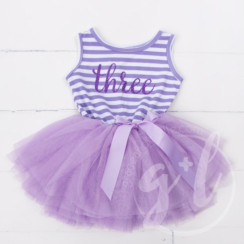604640bb0059 Third Birthday outfit third birthday purple tutu dress | Etsy