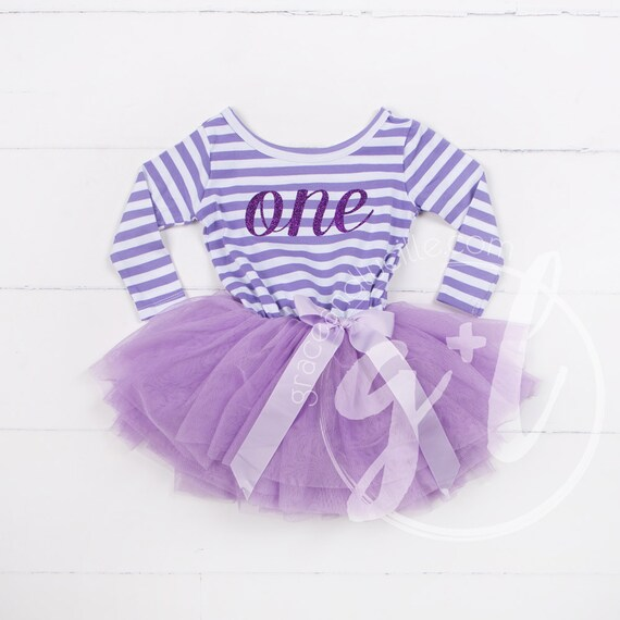 3f8ac239031c First Birthday outfit dress with purple letters and purple | Etsy
