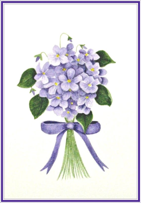 violet greeting card thank you cards thank you notes etsy