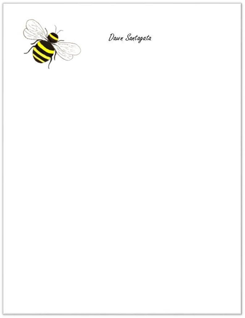 Friend Gift Teacher Gift House Warming Gift Notepad Bumblebee Custom Notepad Bee Personalized Notepad Bumble Bee