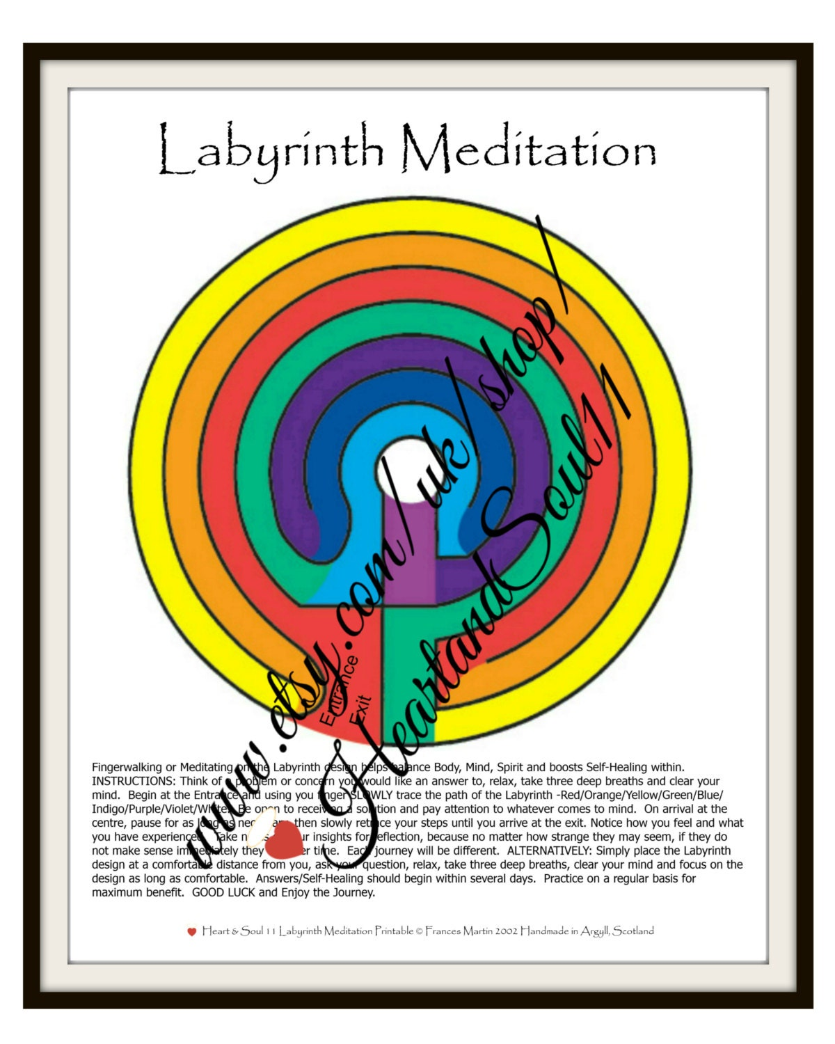 This is a picture of Soft Finger Labyrinth Printable