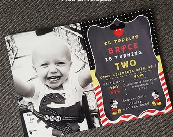 mickey mouse first birthday decorations, mickey mouse birthday invitation 2, first birthday mickey mouse invitations