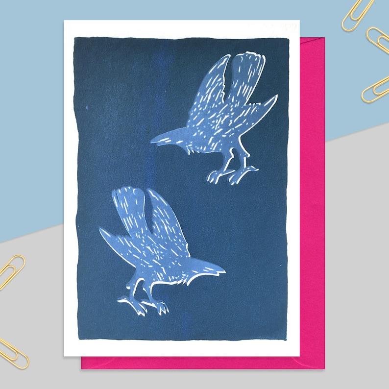 Blue Murder Crow Card Birthday For Him Gift