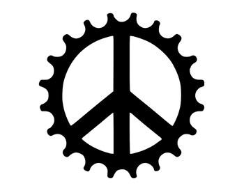 Peace Gear/Cog Mountain Bike,Bike,Motor Cycle,Harley Decal