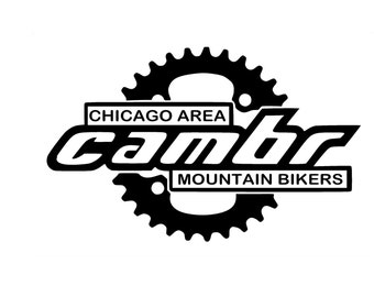Cambr Chicago Area Mountain Bikers Mountain Biking Decal for Car and Laptop.