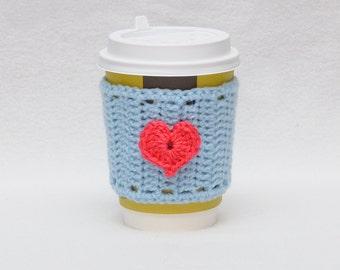 Valentine's Day Holiday gift guide  coffee gift Coffee cozy cup sleeve gift Valentine's Day gifts coffee mug cozy