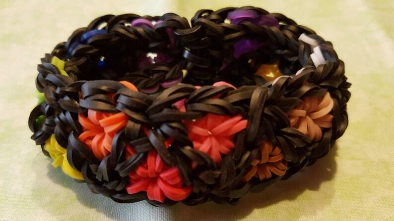 a6576efb96e1 Rainbow Loom Triangular Starburst Stretchy Bracelet