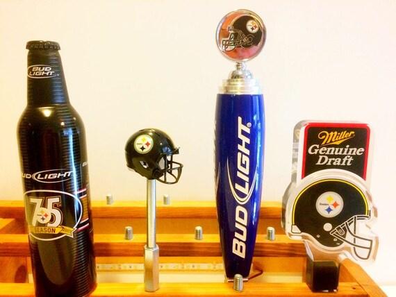 Pittsburgh Steelers Tap Handles Miller Litebeer Tap Bud Light Bar Tap Budweiser Football Beer Taps Mgd Steelers Helmet Christmas Gift Men