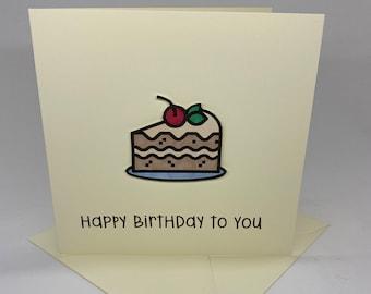 Handmade Happy Birthday Slice of Cake Card