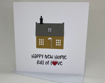 Handmade Wee House New Home Card