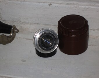 Lens Industar - 50  3.5/50mm with back cover M39 FED Zorki EXCELLENT