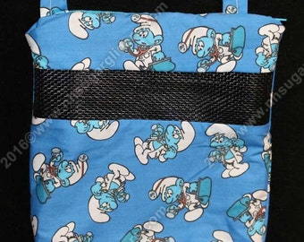 Sugar Glider Bonding Pouch - Doctor Smurfs Print