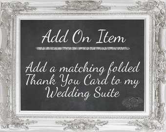 Add On - Thank You Card | Personalized Folded Thank You Card to Match Wedding Suite