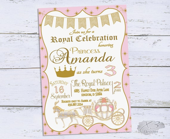 Princess Birthday Invitation Royal Party