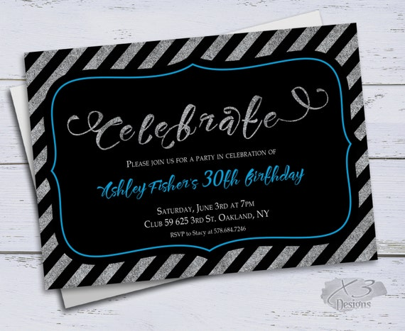 40th Birthday Invitation Printable 50th Invitations