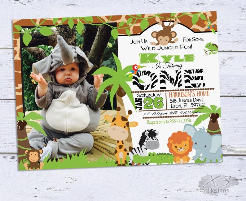 Jungle Birthday Invitations Safari Invitation 1st