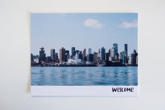 Vancouver postcards beautiful british columbia greeting card etsy image 0 m4hsunfo