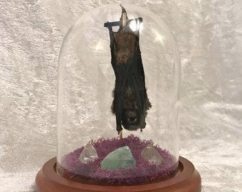 Mini Sleeping Bat Dome: Calcite and Quartz