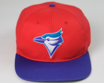 size 40 a3da1 8d39b 90s 00s Vintage Throwback MLB Toronto Blue Jays Baseball Team Snapback Hat,  Made in China, Adult One Size Fits Most, Sportswear