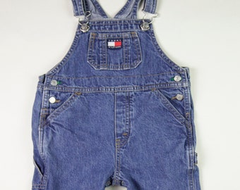 90 s era Vintage Tommy Hilfiger bleu Jeans salopette en Jean, fabriquée au  Canada, bébé enfant taille 18-24 mois, premier cadeau d anniversaire 4ae57931fb8f