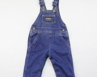 07c11f01 80s/90s Vintage OshKosh B'Gosh Blue Jean Denim Vestbak Overalls, Made in  USA, Newborn Baby Size 3/6 Months, Baby Shower Gift, American Made