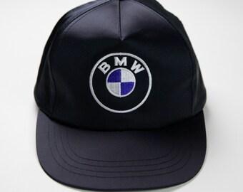 f5d4f623731 80s 90s Era Vintage BMW Logo Snapback Hat