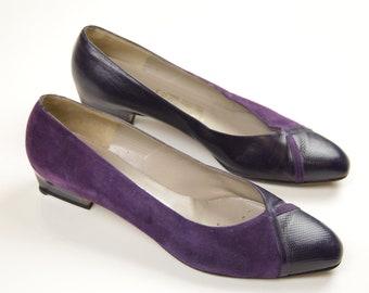 a4d7f82e92616 Purple suede pumps | Etsy