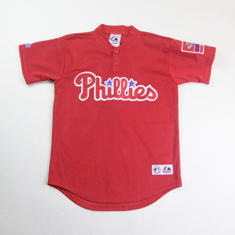 4b9837ed2 90s Era Vintage MLB Philadelphia Phillies Short Sleeve Mesh