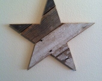 Recycled Wood Star