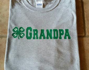 4-H Grandpa Shirt. Grandma Shirt 4H Grandpa Shirt. Livestock Show Shirt.