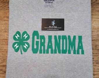4-H Grandma Shirt. 4H Grandma Shirt. Livestock Show Shirt. 4-H Grandpa Shirt. 4-H Mom shirt. 4-H Dad Shirt
