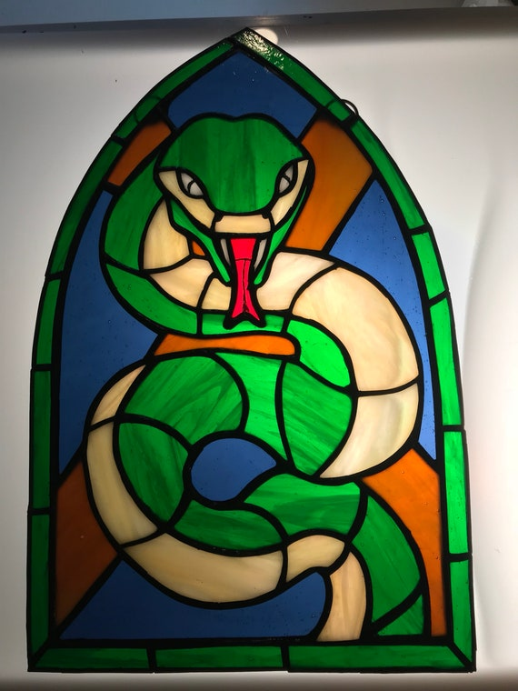 Stained Glass Harry Potter house Slytherin