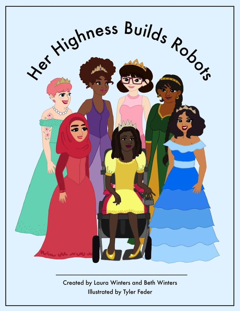 Her Highness Builds Robots A Modern Princess ColoringBook image 0
