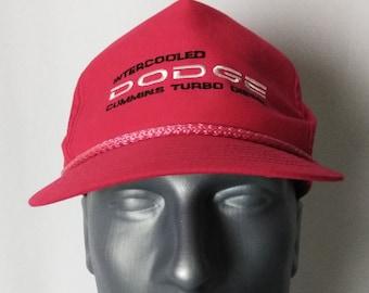Dodge Cummins Turbo Diesel Intercooled Rope Vintage Adjustable Snapback Cap  Hat 96f8cd65aa76