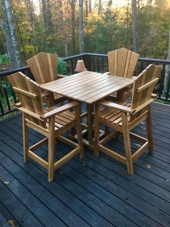 Cool Custom Adirondack Patio Table And Chairs Creativecarmelina Interior Chair Design Creativecarmelinacom