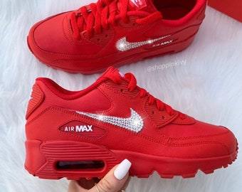 11e7d8bd9af4 Swarovski Nike Air Max 90 Premium Shoes Blinged Out With Swarovski Crystals  Bling Nike Shoes