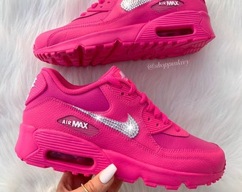 a258c842f3 Swarovski Nike Air Max 90 Premium Shoes Blinged Out With Swarovski Crystals  Bling Nike Shoes