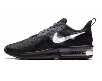 low priced 74ed9 0422c Swarovski Nike Air Max Sequent Shoes Customized With Swarovski Nike Crystals