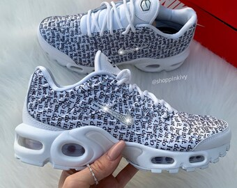promo code 9469c 1807c Swarovski Nike Air Max Plus Shoes Blinged Out With Swarovski Crystals Bling Nike  Shoes