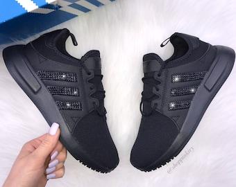 innovative design 79e4f ecb46 Black Swarovski Adidas Originals XPLR Girls Womens Casual Shoes